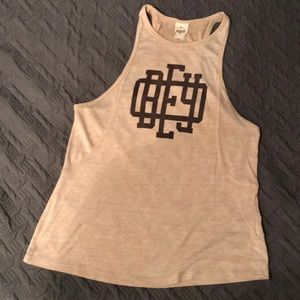 Obey tank top light pink (cream color)